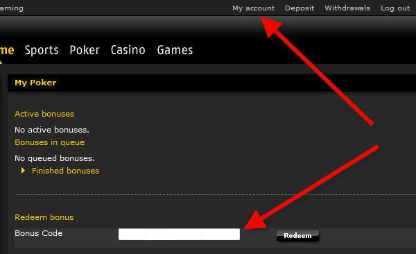 Bonus bwin Poker
