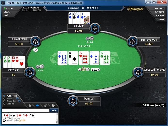 Table at BlackChip Poker